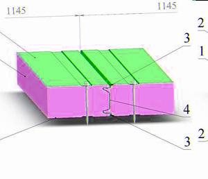 Стеновые сэндвич панели с фиксирующим креплением
